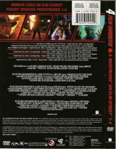 Back cover to the Nightmare on Elm Street combo pack